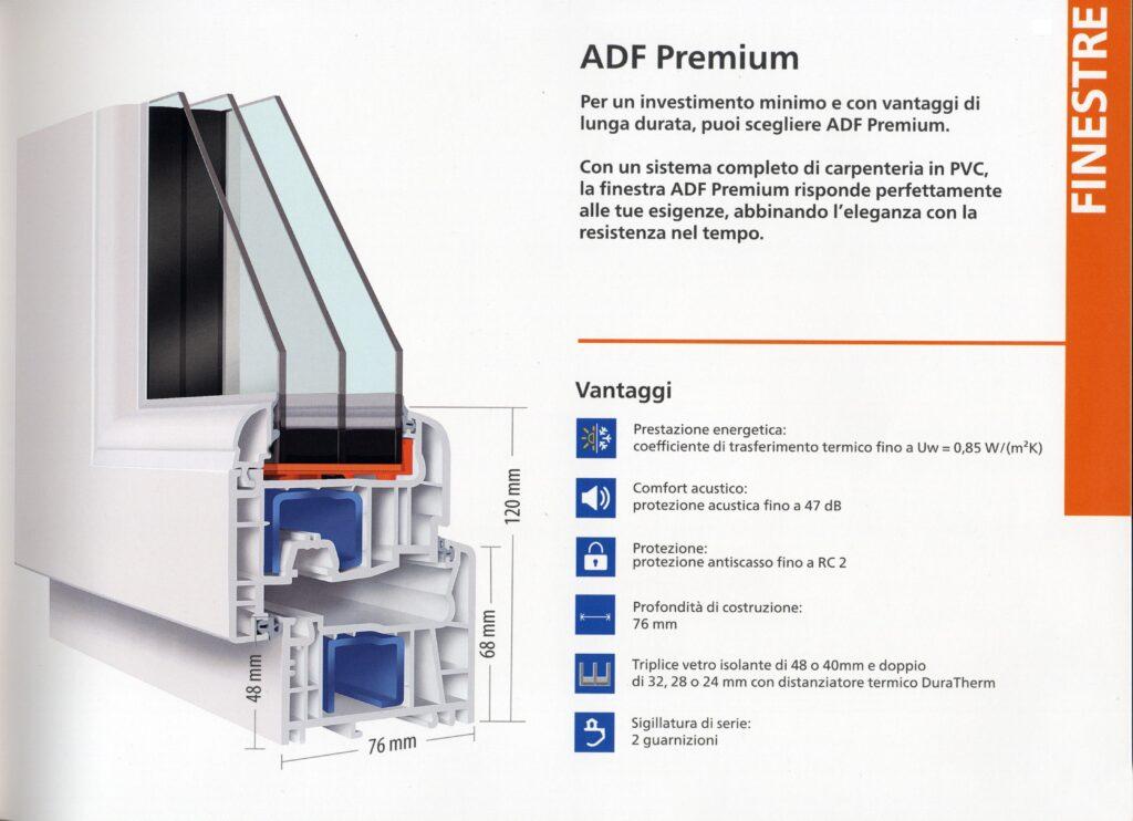 finestra triplo vetro in PVC ad alto isolamento termo-acustico