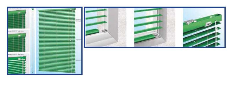 Veneziana verde con sistema di regolazione ed alzata classico