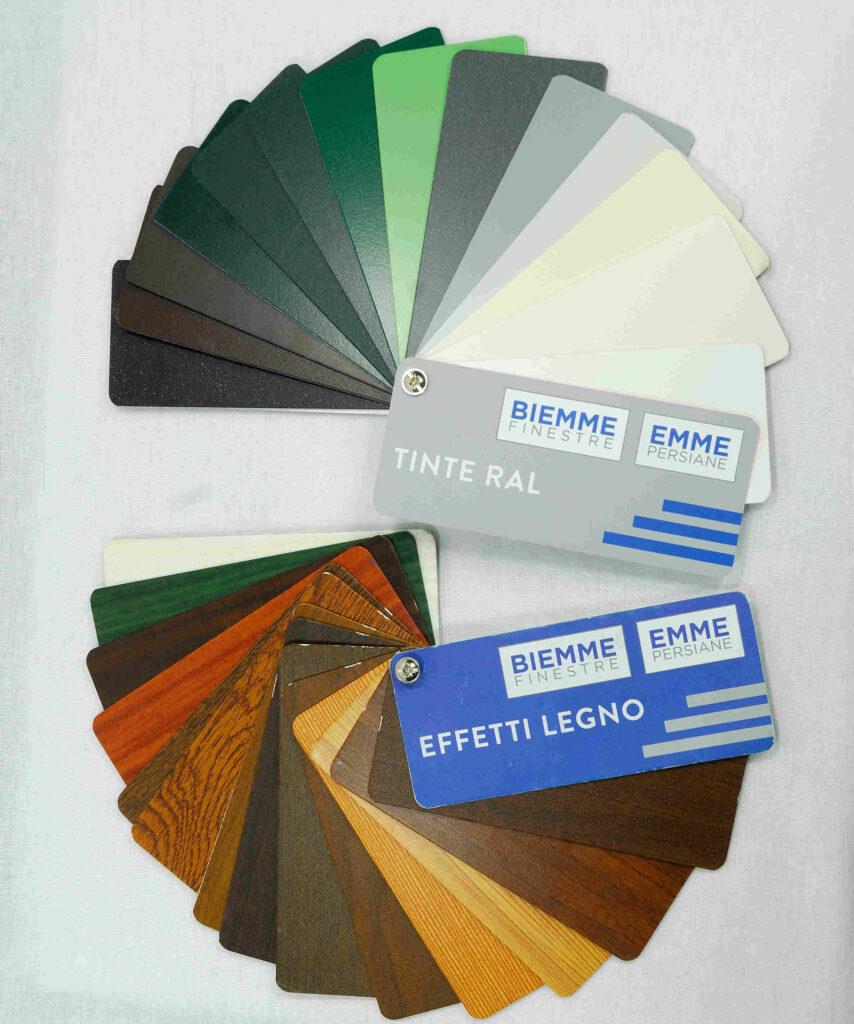 colorazioni effetto legno e standard persiane e finestre