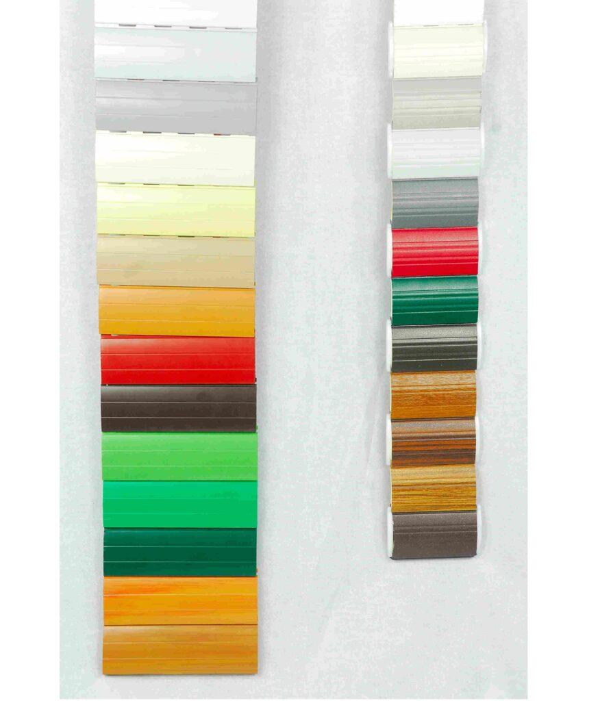 Colorazioni avvolgibili in PVC