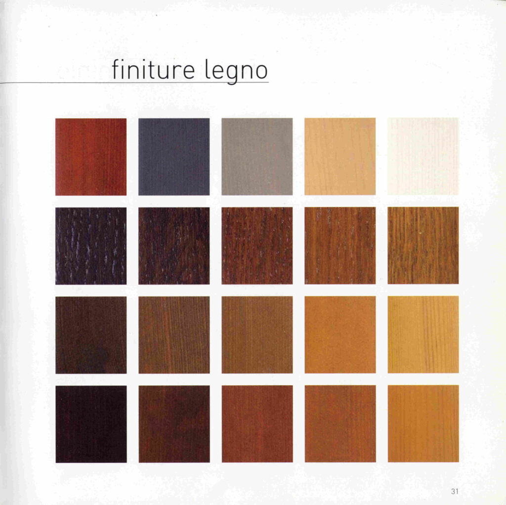 legno alluminio colore lato legno