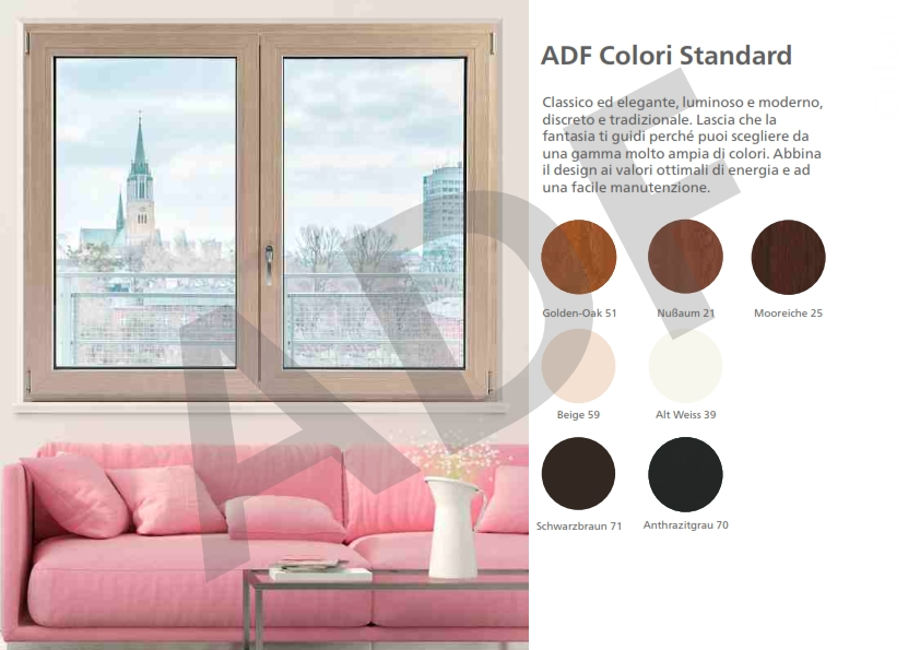 finiture finestre e porte in PVC